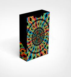 RAINBOW ILLUSION playing cards by Landry SanBders on Kickstarter.  Back of the box