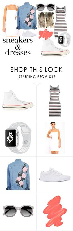 """Sneakers and Dresses"" by blue99star ❤ liked on Polyvore featuring Converse, T By Alexander Wang, Vans, Ace and Obsessive Compulsive Cosmetics"