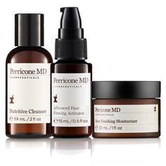 Kit Perricone MD : Kit para líneas, arrugas y poros dilatados. Con 2 ciencias patentadas DMAE para reafirmar y Ácido Alfa Lipóico para disminuir los poros y dar protección antioxidante.