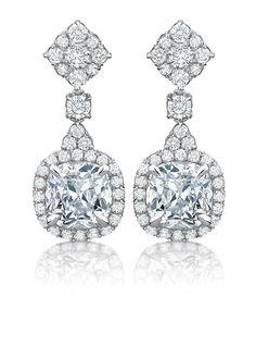 #whitegold and #diamond earrings from Elegé | TIVOL