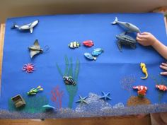 I recently made this Ocean Life mat to use with our collection of ocean figures. I use the mat to introduce information about animals, plan. Ocean Unit, Ocean Deep, Montessori Activities, Ocean Themes, Ocean Life, Small World, Under The Sea, Preschool, Classroom