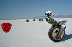 1 wheel motorcycle.  fuel efficient, dangerous, fun.