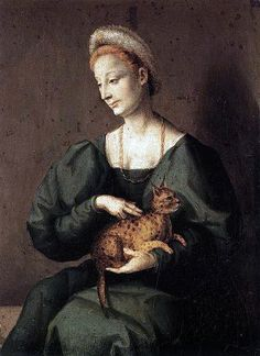 Bacchiacca  Woman with a Cat  1540s