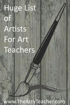 & Themes Huge list of artists categorised by theme brought to you by The Arty Teacher. Resource for Art TeachersHuge list of artists categorised by theme brought to you by The Arty Teacher. Resource for Art Teachers High School Art, Middle School Art, Art History Lessons, Art Lessons, School Lessons, List Of Artists, Famous Artists, Art Doodle, Art And Craft Videos