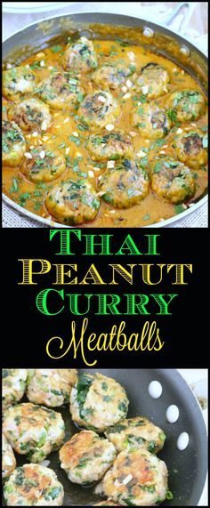 Thai Peanut Curry Chicken Meatballs are mildly spiced with a fragrant combination of flavors, spices, and colors for an easy and delicious dinner. Ready in just 30-minutes.