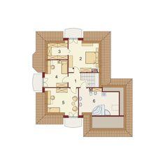 DOM.PL™ - Projekt domu DA Swetoniusz 2 CE - DOM DS2-37 - gotowy koszt budowy Beautiful Home Designs, Beautiful Homes, Little Houses, Architecture Design, House Plans, Floor Plans, House Design, How To Plan, Two Story Houses