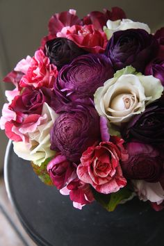 ranunculus and rose