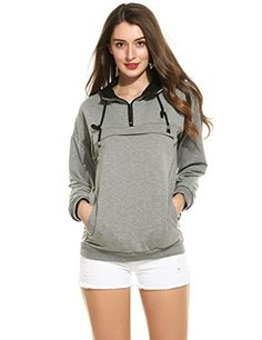 ACEVOG Womens Long Sleeve Knitted Zipper Hoodies Casual Sweatshirt *** Check out the image by visiting the link.