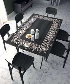 Border Stencil Unique Stencil For Furniture by StencilsLabNY