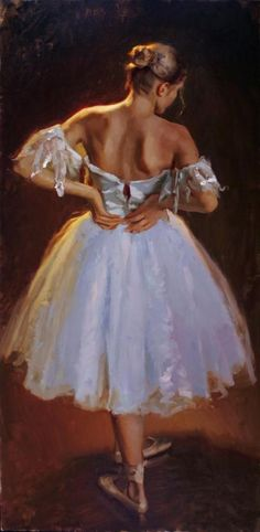 Natural Light - Mike Malm-The Michael Malm, b. The pastoral landscapes that Malm paints are a reflection of his feelings about rural Utah, Ballerina Kunst, Ballerina Painting, Ballet Art, Ballet Dancers, Ballerinas, Raindrops And Roses, Dance Paintings, Oil Paintings, Ballet Photography