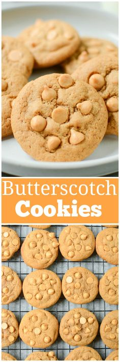 Butterscotch Pudding Cookies - delicious and soft butterscotch cookies with butterscotch chips. A quick and easy cookie recipe! Easy Cookie Recipes, Best Dessert Recipes, Brownie Recipes, Desert Recipes, Chocolate Recipes, Easy Desserts, Delicious Desserts, Sweets Recipes, Candy Recipes