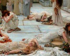 Lawrence Alma-Tadema  - Women of Amphissa (detail) 1887.