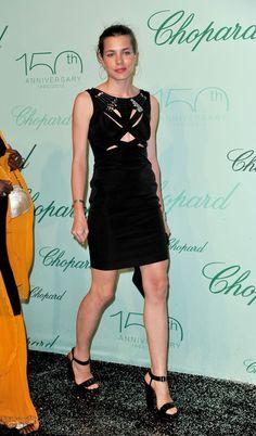 Charlotte Casiraghi and Gucci Spring 2010 RTW Cutaway Black Dress