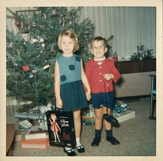 Christmas 1965. Love this photo! I still have my own Penny Brite, including this case.