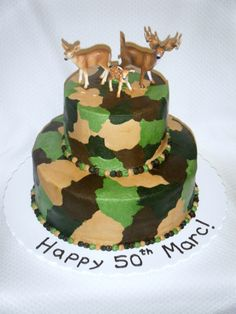 Camo Cake All buttercream cake. Thank you so much to whomever posted the tutorial out here on CC--SO helpful! Hunting Birthday Cakes, Camo Birthday, Birthday Bash, Birthday Ideas, Birthday Parties, Sweet 16 Birthday Cake, Birthday Cakes For Men, Cakes For Boys, Party Sweets