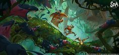 """The SPA Studios (@TheSPAStudios)   Twitter """"Escape from planet YX"""" by Marcin Jakubowski. #Exclusive #Artwork #Concept"""
