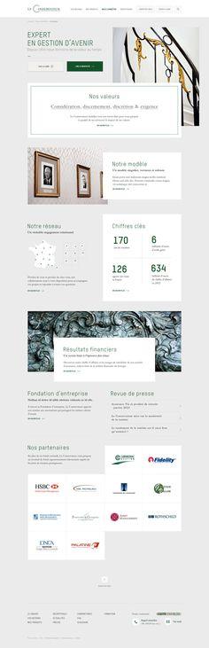 Unique Web Design, Le Conservateur #WebDesign #Design (http://www.pinterest.com/aldenchong/)