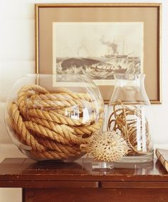 Money for Old Rope -  Nautical Style hallway with old rope and sea shells -  #new #england #style #decor - Click Pic for More Ideas