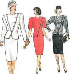 década de 1980 vestido patrón Vogue 9748 por NeenerbeenerKnits