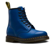 Martens 1460 Smooth Leather Lace Up Boots in Blue Smooth Dr Martens 1460, Dr. Martens, White Doc Martens, Doc Martens Style, Doc Martens Outfit, Doc Martens Boots, Grunge Style, Soft Grunge, Galaxy Converse