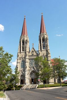 St. Helena Cathedral, Helena Montana -- it's really that beautiful!  I have a similar picture that I made while there.