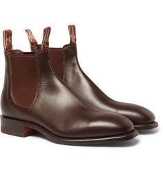 Originating from the Victorian era, Chelsea boots remain a wardrobe classic to this day. Purchase a pair of these stylish casual men's shoes from MR PORTER. Brown Leather Chelsea Boots, Brown Boots, Mens Designer Boots, Designer Shoes, Men's Shoes, Shoe Boots, Dress Shoes, Rm Williams, Winter Fashion Boots