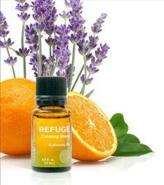 100% pure, REFUGE Calming Essential Oil Blend, Lavender, Orange, Atlas Cedar, Ylang Ylang, Blue Tansy, Vanilla, Nature's Sunshine