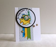 CN Designs: Your Next Stamp, Birthday Fishes, Copics