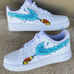 Custom Sneakers, Custom Shoes, Nike Custom, Nike Shoes Air Force, Air Force Sneakers, Sneakers Nike, Shoes Wallpaper, Cute Nike Shoes, Swag Shoes