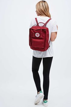 Fjallraven Kanken Classic Backpack in Ox Red - Urban Outfitters