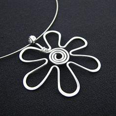 Spiral wire flower