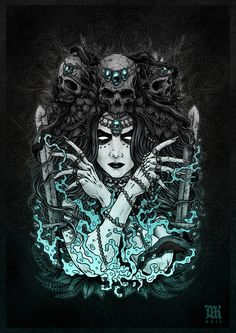 Slavic Mythology part I on Behance - Tattoo MAG Slavic Tattoo, Witchy Wallpaper, Heavy Metal Art, Gothic Fantasy Art, Goddess Tattoo, Satanic Art, Beautiful Dark Art, Arte Obscura, Dark Tattoo