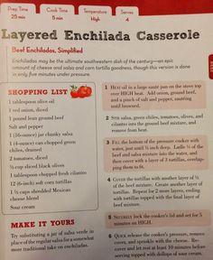TASTE OF HAWAII: ENCHILADA CASSEROLE - PRESSURE COOKER RECIPE