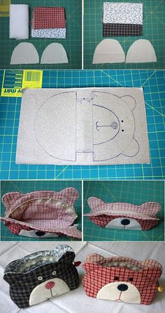 20 Free Sewing Patterns with Bunnies! Sewing Hacks, Sewing Tutorials, Sewing Crafts, Quilt Tutorials, Patchwork Bags, Quilted Bag, Sewing Patterns Free, Free Sewing, Bag Quilt