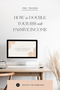 how I launched my online course + shop that DOUBLED my income in just one year! Branding Your Business, Business Design, Business Tips, Online Business, Work Life Balance Tips, Creating Passive Income, Show Me The Money, Online Entrepreneur, Free Training