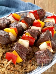 Posts about Beef written by bjssolutions Kabob Recipes, Grilling Recipes, Meat Recipes, Camping Recipes, Steak Tips, Beef Tips, Bbq Skewers, Kabobs, Bbq Marinade