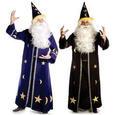 Men Costumes: Wizard Costumes For Men Adult Merlin Sorcerer Halloween Fancy Dress BUY IT NOW ONLY: $55.69