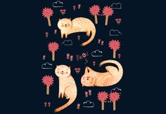 Orange Cat Pattern by JudithLoske