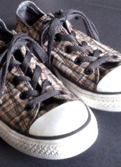 Kaufe meinen Artikel bei #Kleiderkreisel http://www.kleiderkreisel.de/damenschuhe/halbschuhe/103844186-converse-35-schuhe-sneaker-kariert-rar-selten