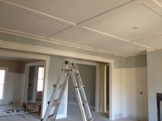 flat coffered ceiling in great room?