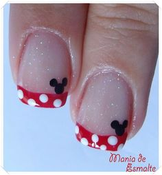 Disney nails. This should be pretty easy...even Mickey is dots. Super cute!
