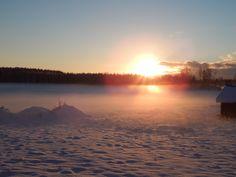 First winter, Finland 2014 Finland, River, Celestial, Sunset, School, Outdoor, Art, Sunsets, Outdoors
