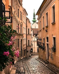 Exploring the back alleys of Bratislava, Slovakia - Travel Oh The Places You'll Go, Places To Travel, Travel Destinations, Places To Visit, Wanderlust, Travel Pictures, Travel Photos, European Destination, Travel Aesthetic