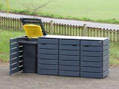 Mülltonnenbox Holz 240 Liter - New Ideas Garbage Storage, Storage Bins, Bin Store Garden, Hide Trash Cans, Diy Air Conditioner, Balcony Railing Design, Garden Tool Storage, Garden Deco, Outdoor Spaces