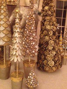 Christmas Ornament Set Champagne Variety 40 Ct  Christmas