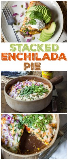 Vegetarian Stacked Enchilada Pie - for when you're too lazy to make *real* enchiladas.