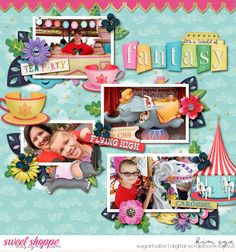 Digital Scrapbook Disney Layout using Believe in Magic: Fantasy World collection by Amber Shaw and Studio Flergs (found at Sweet Shoppe Designs)