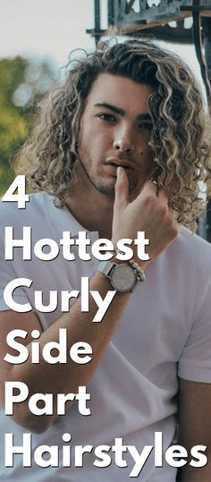 Check out these 4 most trendy and stylish Curly Side Part Hairstyles for men to be on top of the hairstyle game in Rugged Style, Rugged Men, Side Part Hairstyles, Permed Hairstyles, Perm Hair Men, Hair Perms, Getting A Perm, Really Long Hair, Air Dry Hair