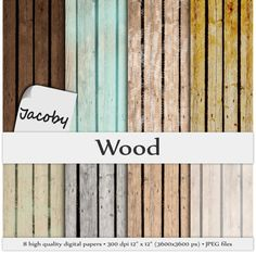 WOOD DIGITAL PAPER  Wooden Background texture by JacobyDesign, $4.60