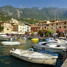 The little harbor of Malcesine between Monte Baldo and lake Garda | Flickr - Photo Sharing!